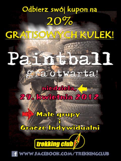Gra otwarta w paimtball - dla każdego, kto nie ma swojej grupy, lub grywa w małych ekipach.