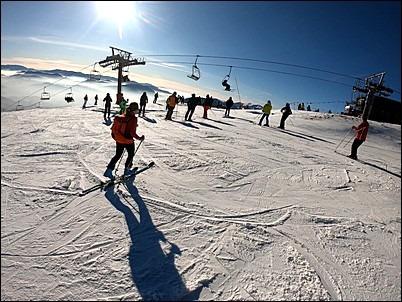 narty na Słowacji, narty na Kubinskiej holi, widok ze szczytu kubińskiej holi